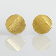 Sterling Silver and 24ct Gold Earrings