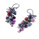 Straight Purple Boa Earrings