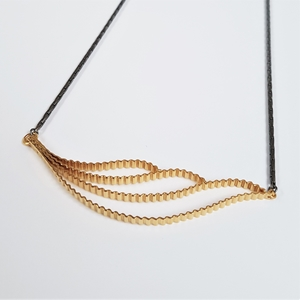 Strata Cloud Necklace in silver with gold plating -Main view- by Clara Breen