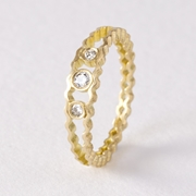 Strata diamond band -18ct gold by Clara Breen