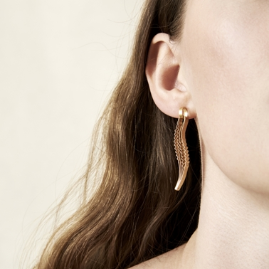 Strata Earrings-Gold-plated silver by Clara Breen-photo ester keate