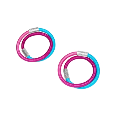 Aqua & Cerise Beam earrings