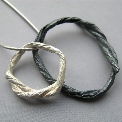 string loop pendant detail