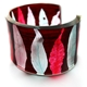 burgundy stiped leaf cuff