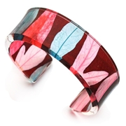 Red stripes narrow cuff
