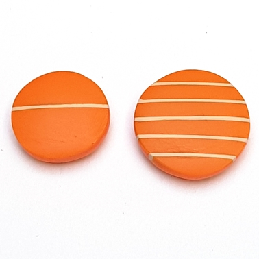 Don't match studs - orange with nude stripes