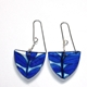 blue leburnum triangle earring