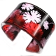 Red/pink/Black Gerainium leaves Cuff