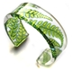 Narrow lime fern Cuff
