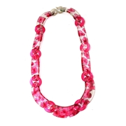 Pink Tiny Hydrangea Chain Necklace