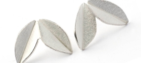 Sue Lane - Silver fold earrings
