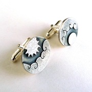sun and moon cufflinks