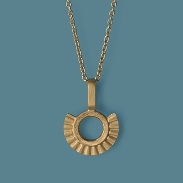 Sunray Pendant Gold Plated silver by Clara Breen