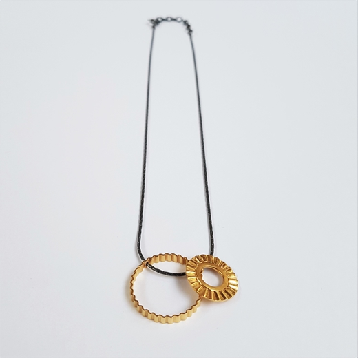 Sunray pendant in silver with gold plating - by Clara Breen