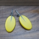 mustard oval drop earrings