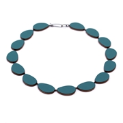 teal curve necklace