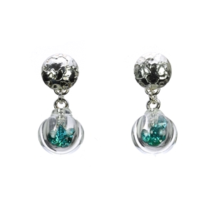 teal-CZ-lampworked-blown-glass-stud-top-sterling-silver-earrings-by-Charlotte-Verity