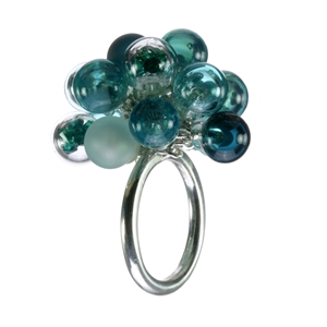 teal-lampworked-blown-glass-sterling-silver-large-bubble-ring-by-Charlotte-Verity