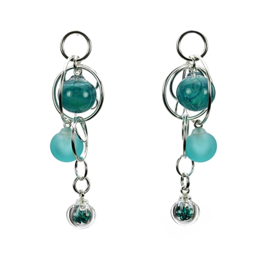 teal-lampworked-blown-glass-triple-bubble-sterling-silver-earrings-by-Charlotte-Verity