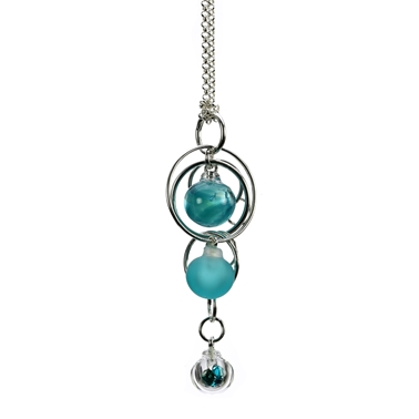 teal-triple-bubble-lamp-worked-glass-sterling-silver-pendant-by-charlotte-verity