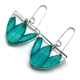 Teal Rowan Tri earrings