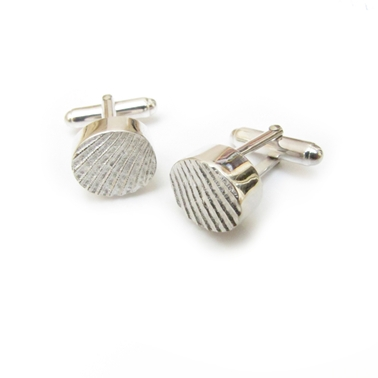 Textured Oval Cufflinks