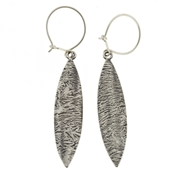 leaf textured earrings 1