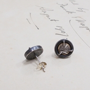 The Absent Term Small Stud Earrings (reverse)