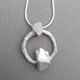 thread link pendant with stone