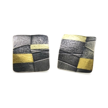 Large Seamed Stripe Studs