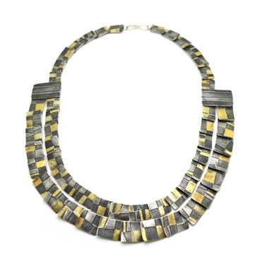 Seamed Sripe Multi Necklace