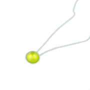 Tiny Silver and Enamel Pendant - Lime