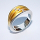 Multi split 3 diamond shell ring