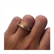 10pt Partially Split Silver Shell Ring on Finger