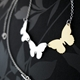 triple butterfly necklace image 3