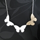 triple butterfly necklace image 4