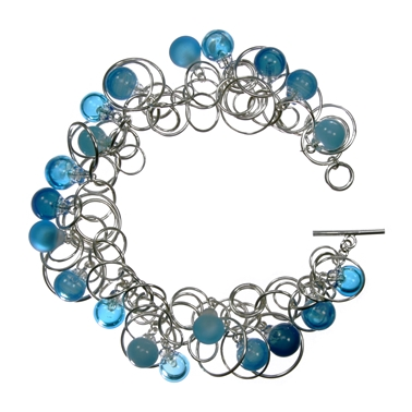turquoise-flame-worked-glass-bubble-sterling-silver-multilink-chain-bracelet-by-charlotte-verity