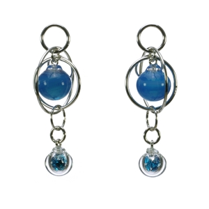 turquoise-flame-worked-glass-double-bubble-sterling-silver-earrings-by-charlotte-verity