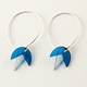 turquoise bud earrings