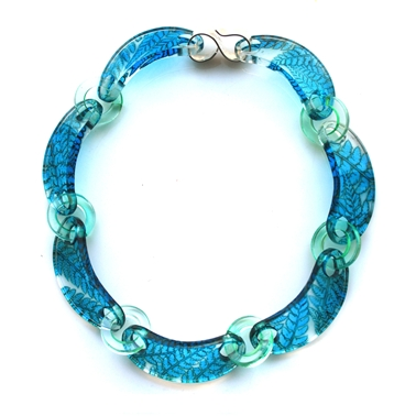 Turquoise Fern Chain Necklace