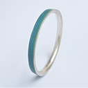 Turquoise Paper and Fine Silver Bangle Main Image - By Clara Breen