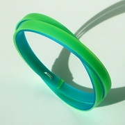 thin green twist bangle