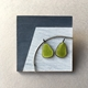 Two pears brooch