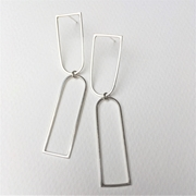 Two wire arch earrings