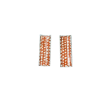 Tangerine Rectangle Curved Studs