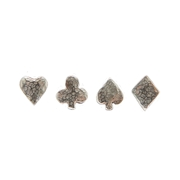 4 suit stud earrings