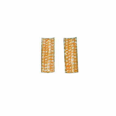 Orange Rectangle Curved Studs