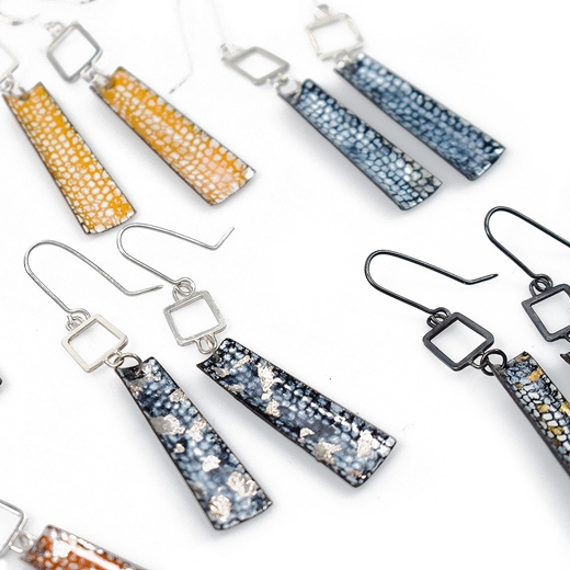 Square Wire Rectangle Drop Earrings