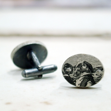 Up to the Sky Cufflinks Reverse