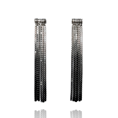 Vesper Tube Link Earrings